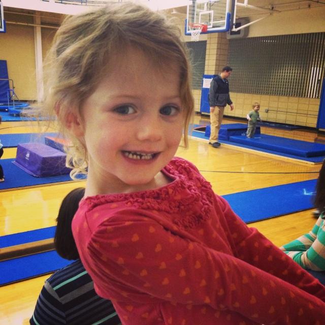 Elle starts gymnastics.